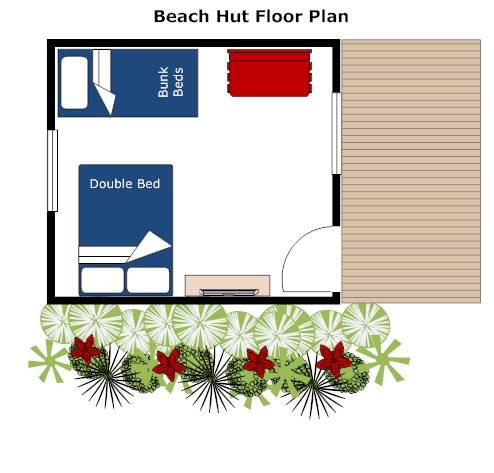 Beach Hut floor plan