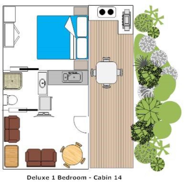 Deluxe Couples Chalet Floor Plan