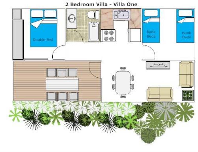 Two Bedroom Villa 1 floorplan
