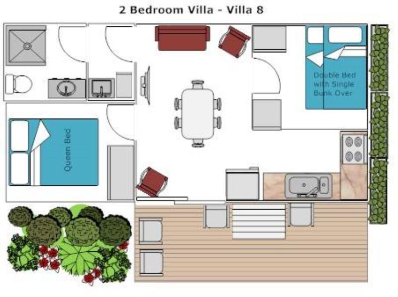 Two Bedroom Villa 8 Floor Plan