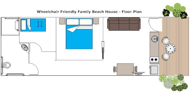 Wheelchair Friendly Beach House Floor Plan
